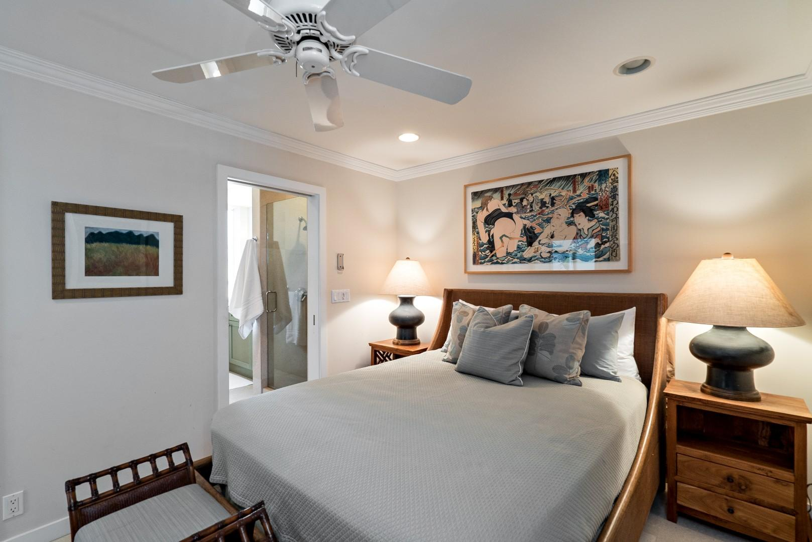 Pool house guest bedroom