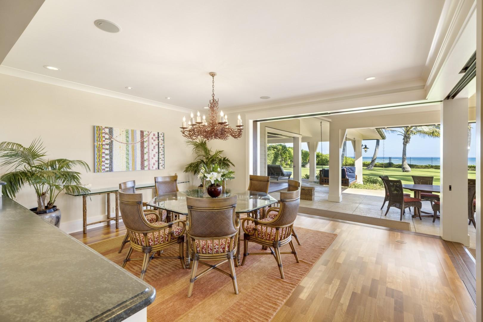 Dining area with ocean views