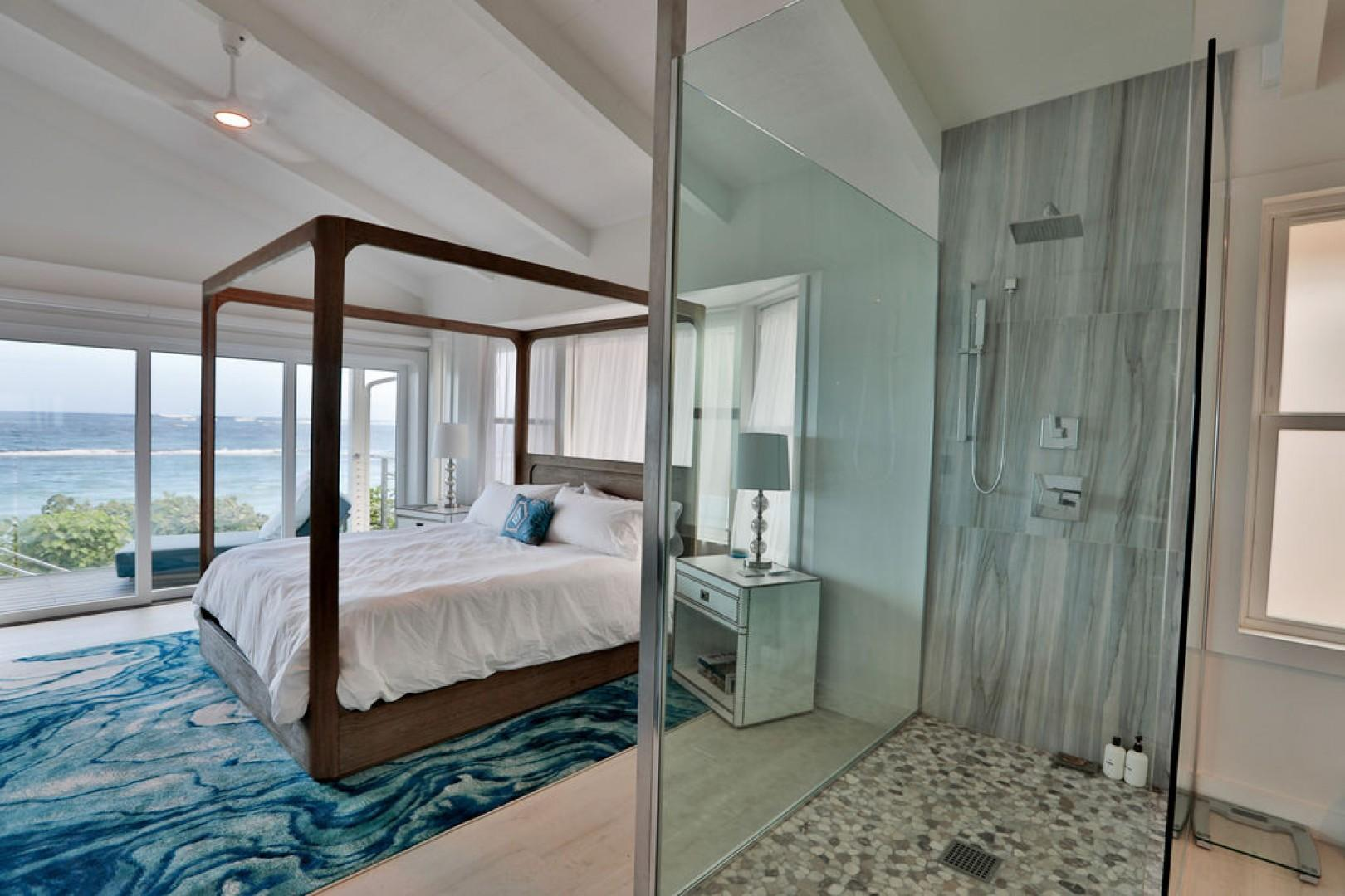 Master Bedroom with stand alone shower and ocean views