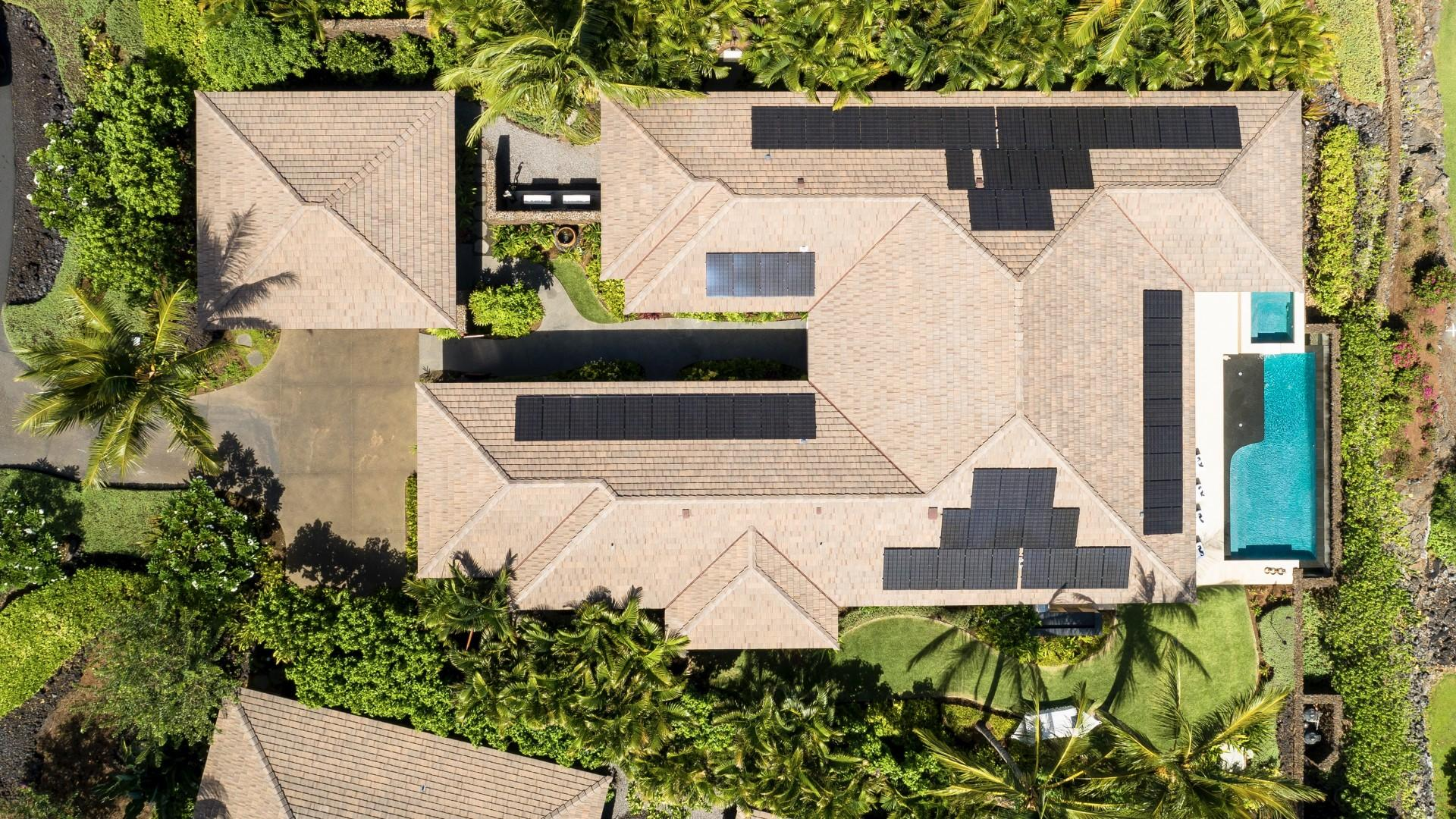 Aerial view of this sumptuous luxury estate home.
