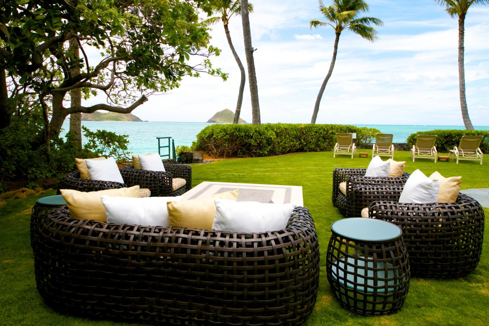 Ocean lawn fronting Guest House