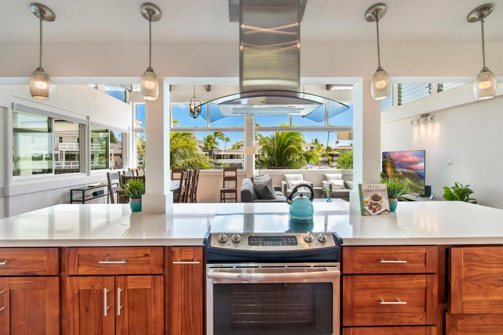 Kitchen views out to the marina!