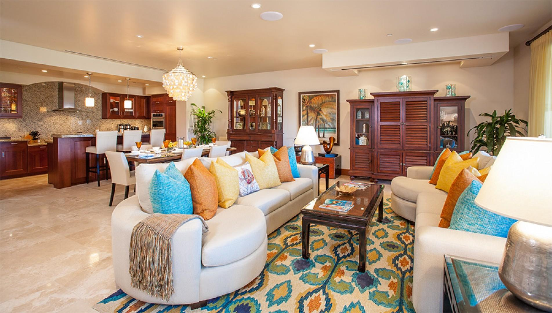 Castaway Cove C201 - Spacious Ocean View Great Room with Entertainment Center and Alfresco Terrace