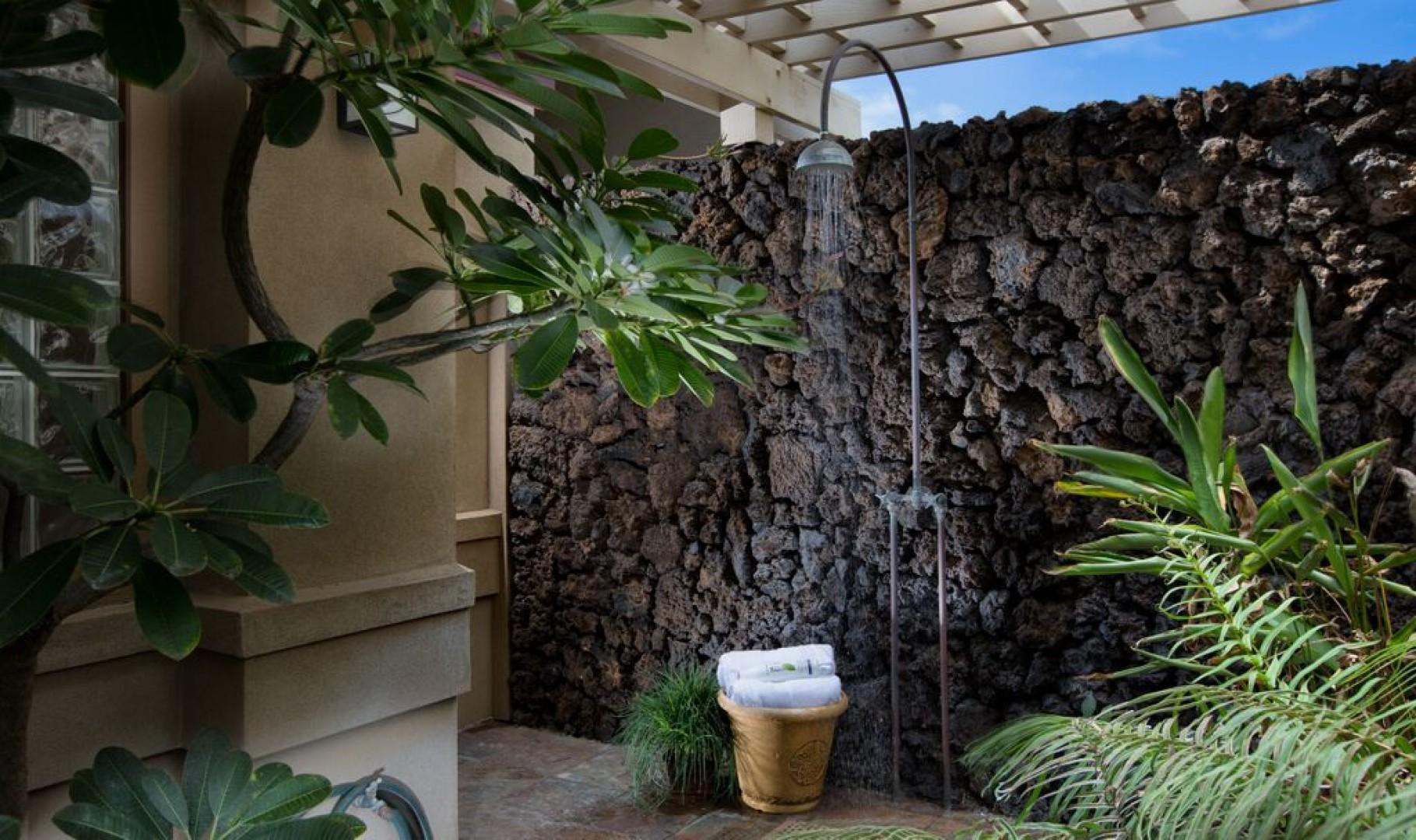 Private outdoor shower!
