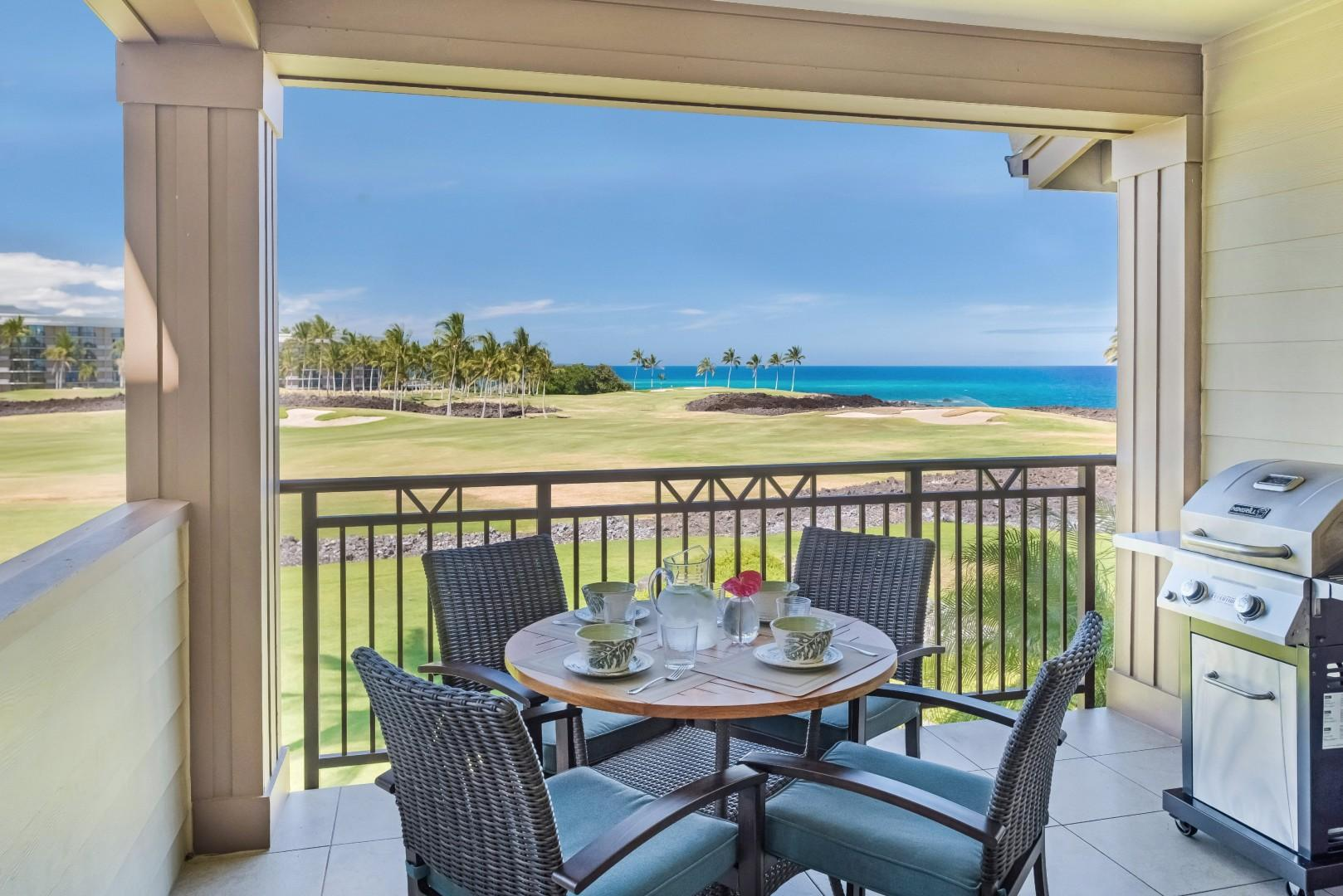Stunning ocean and sunset views from your lanai!