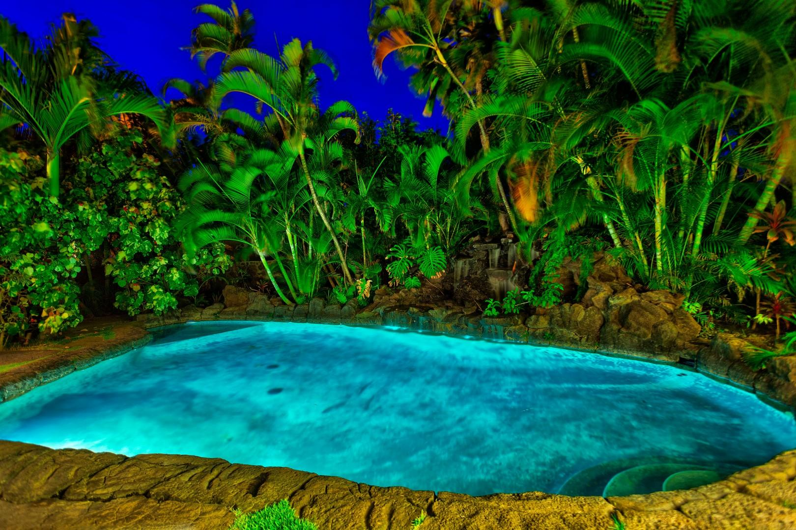The beautiful tropical oasis, Maluhia.