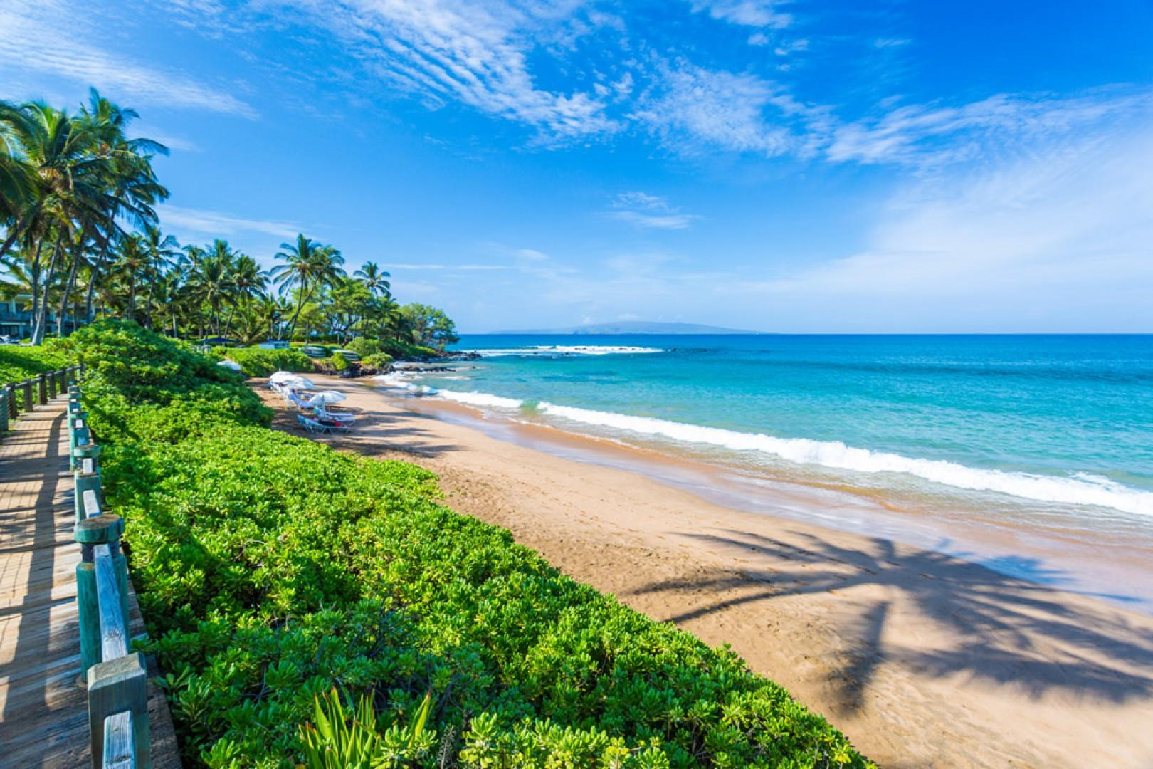 Mokapu Beach Only Steps Away from SeaGlass Villa and Directly In Front Of Andaz Wailea