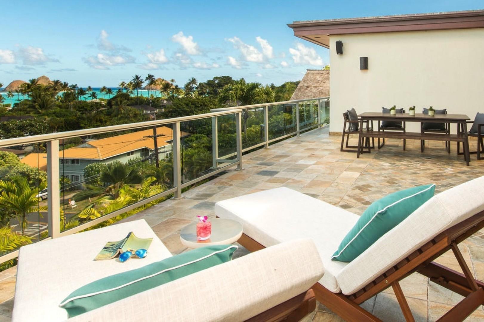 Second floor ocean-view lanai!