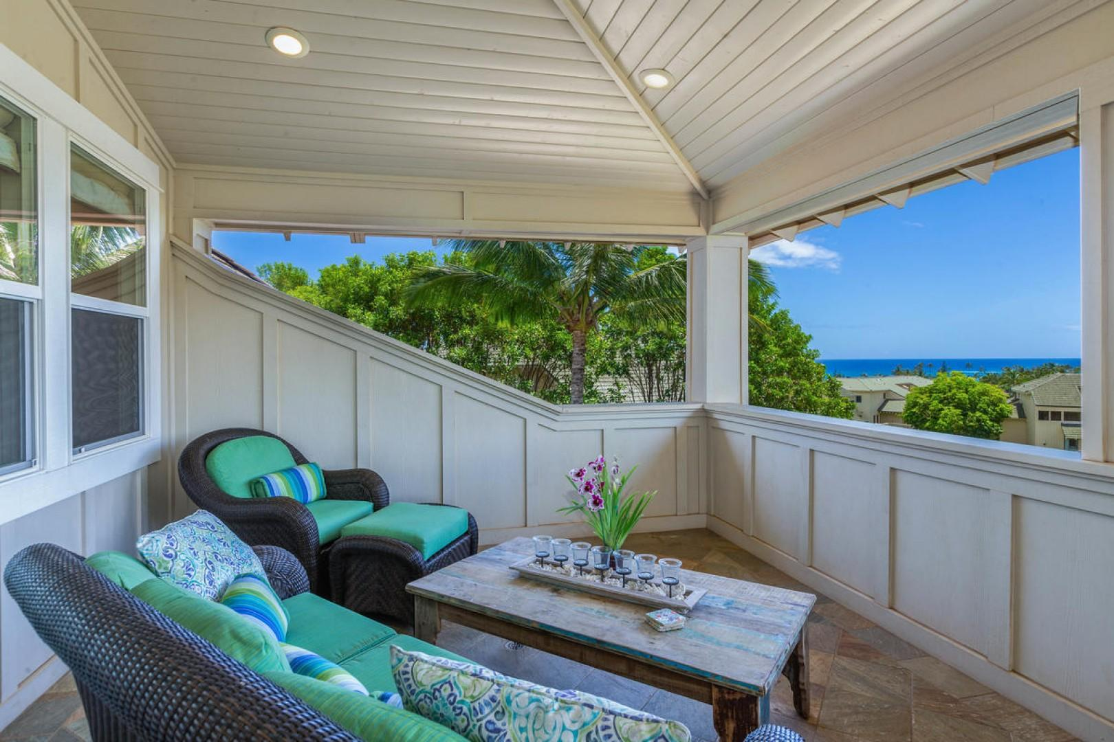 Penthouse ocean view of Poipu