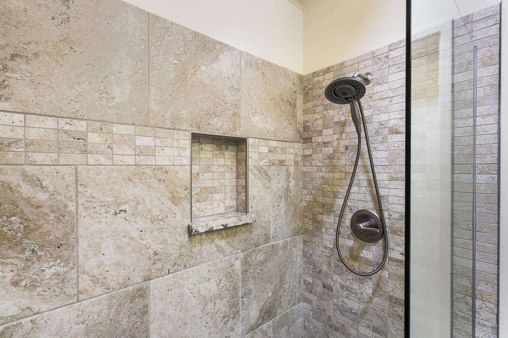 Master bathroom walk-in shower!