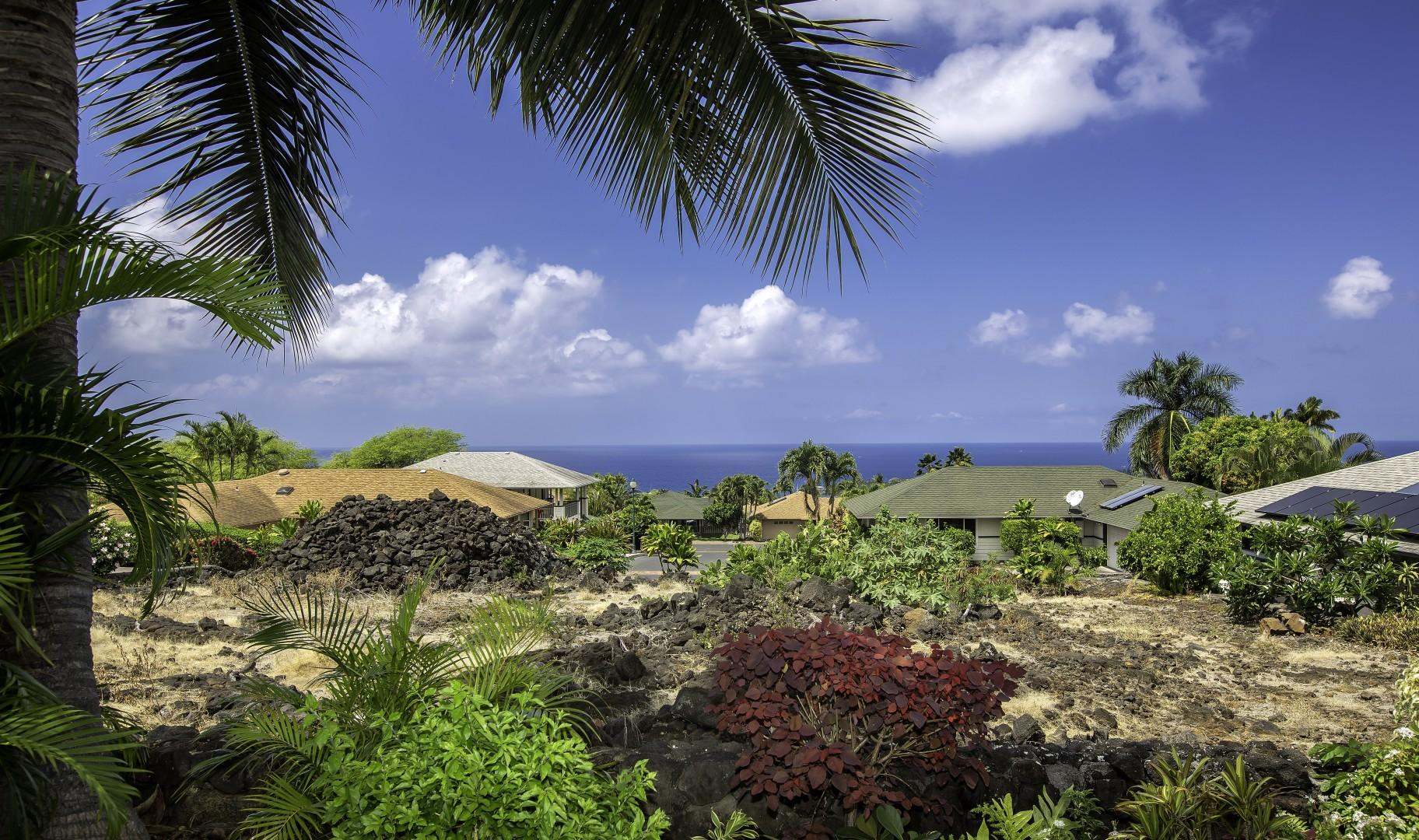 Amazing ocean views from the back lanai as well as the master bedroom!