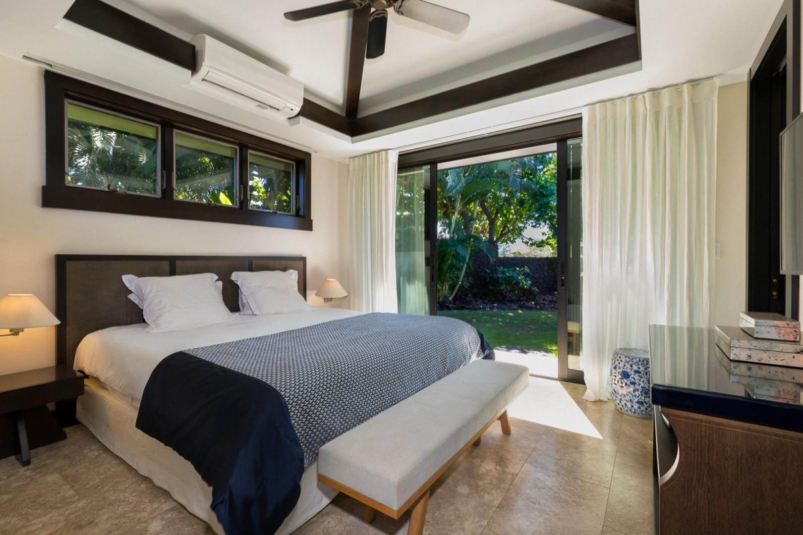 Elegant bedroom with lanai access