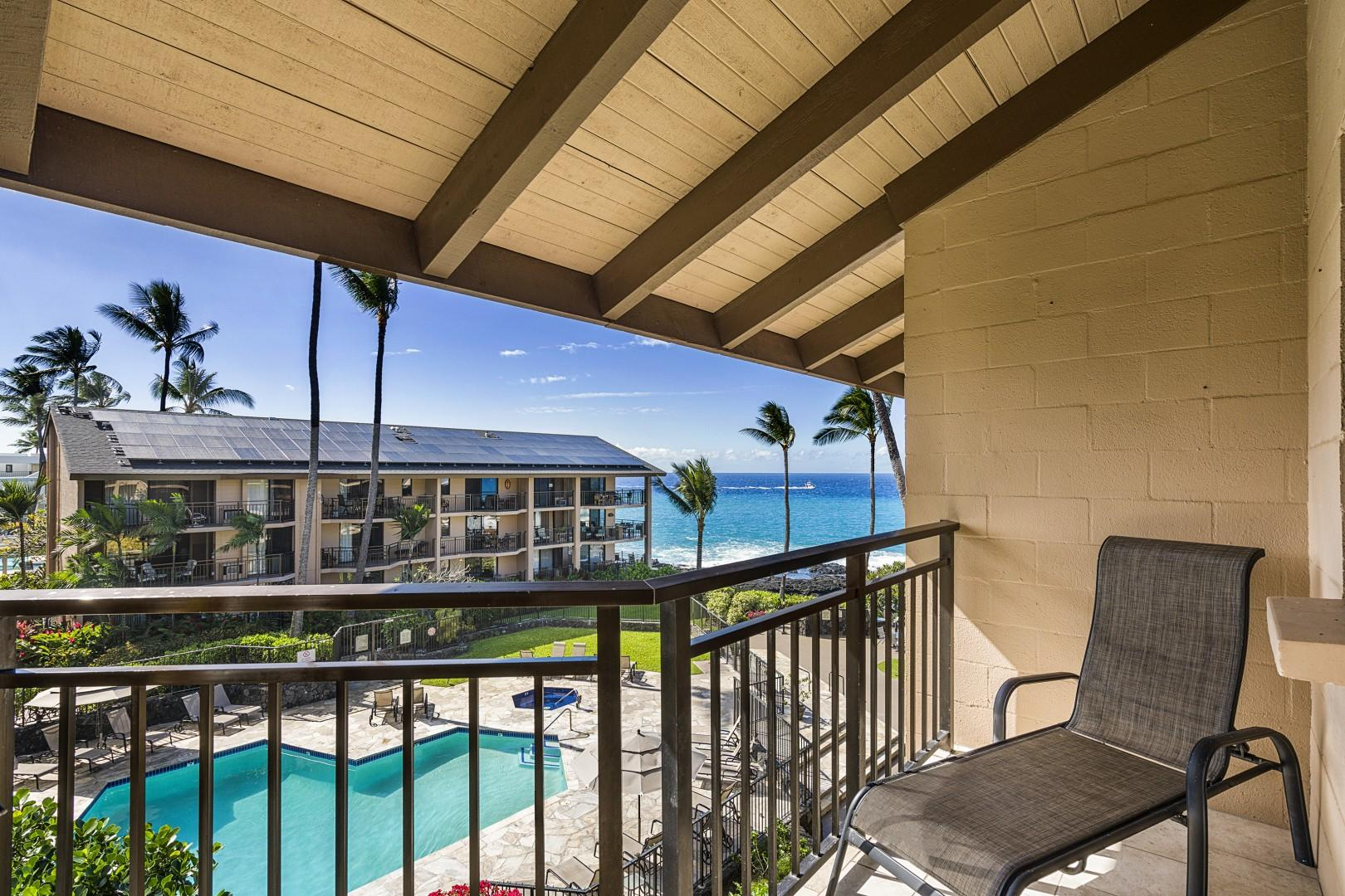 Lounge on the Lanai and take in the tropical weather!
