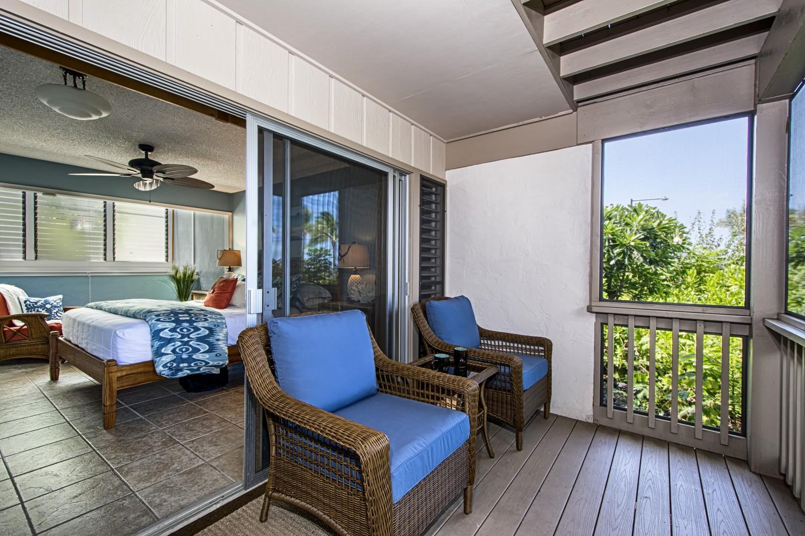 Downstairs bedroom Lanai!