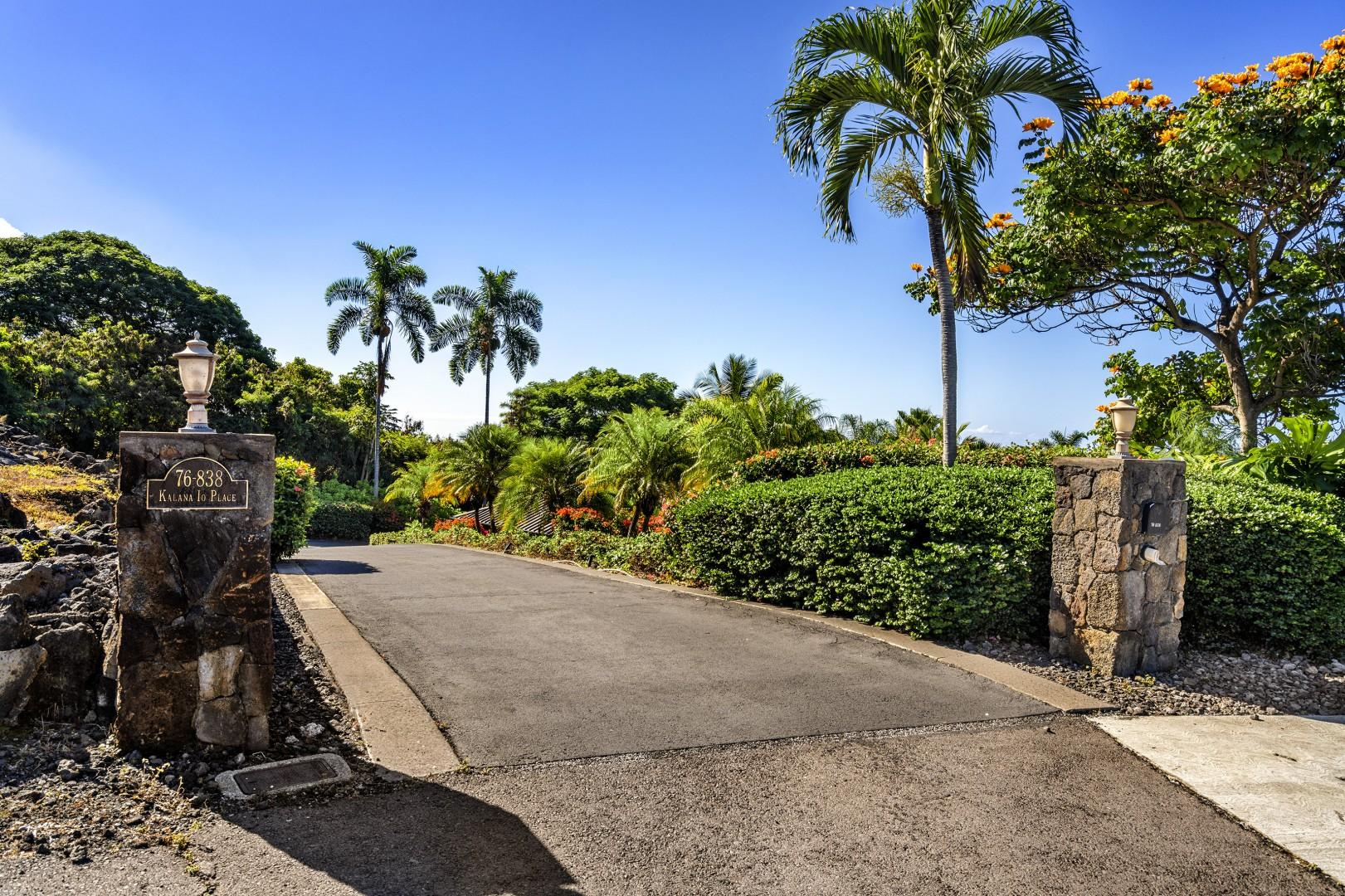 Top of the driveway