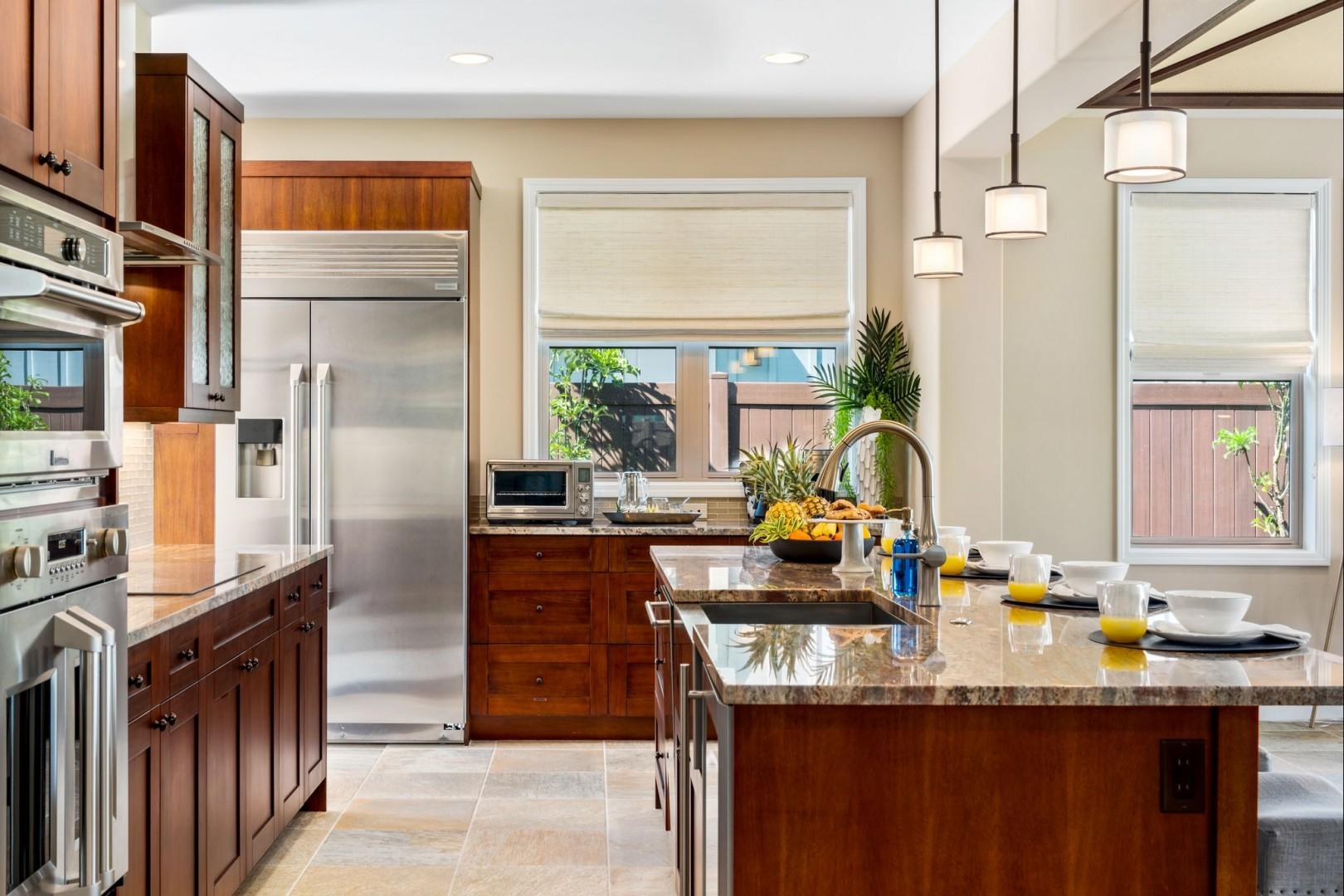 From the wine fridge to the induction range this kitchen has all you could need