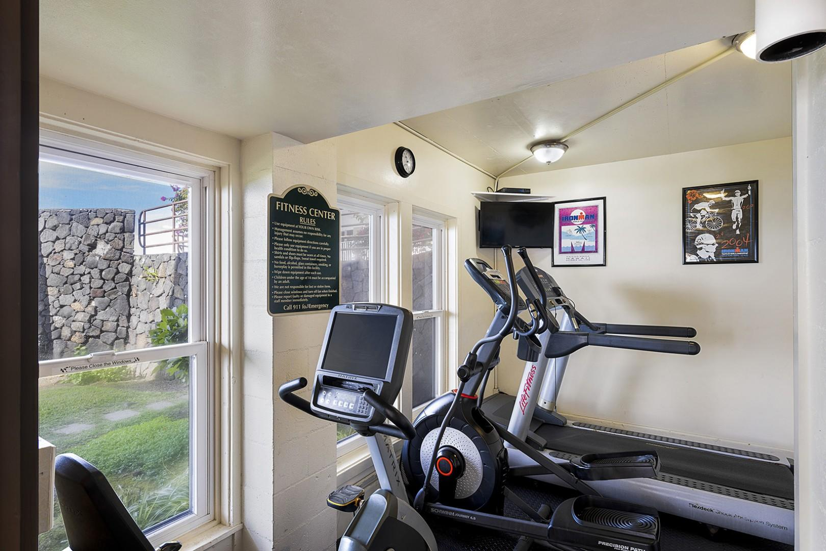 Fitness room at Kona Makai!