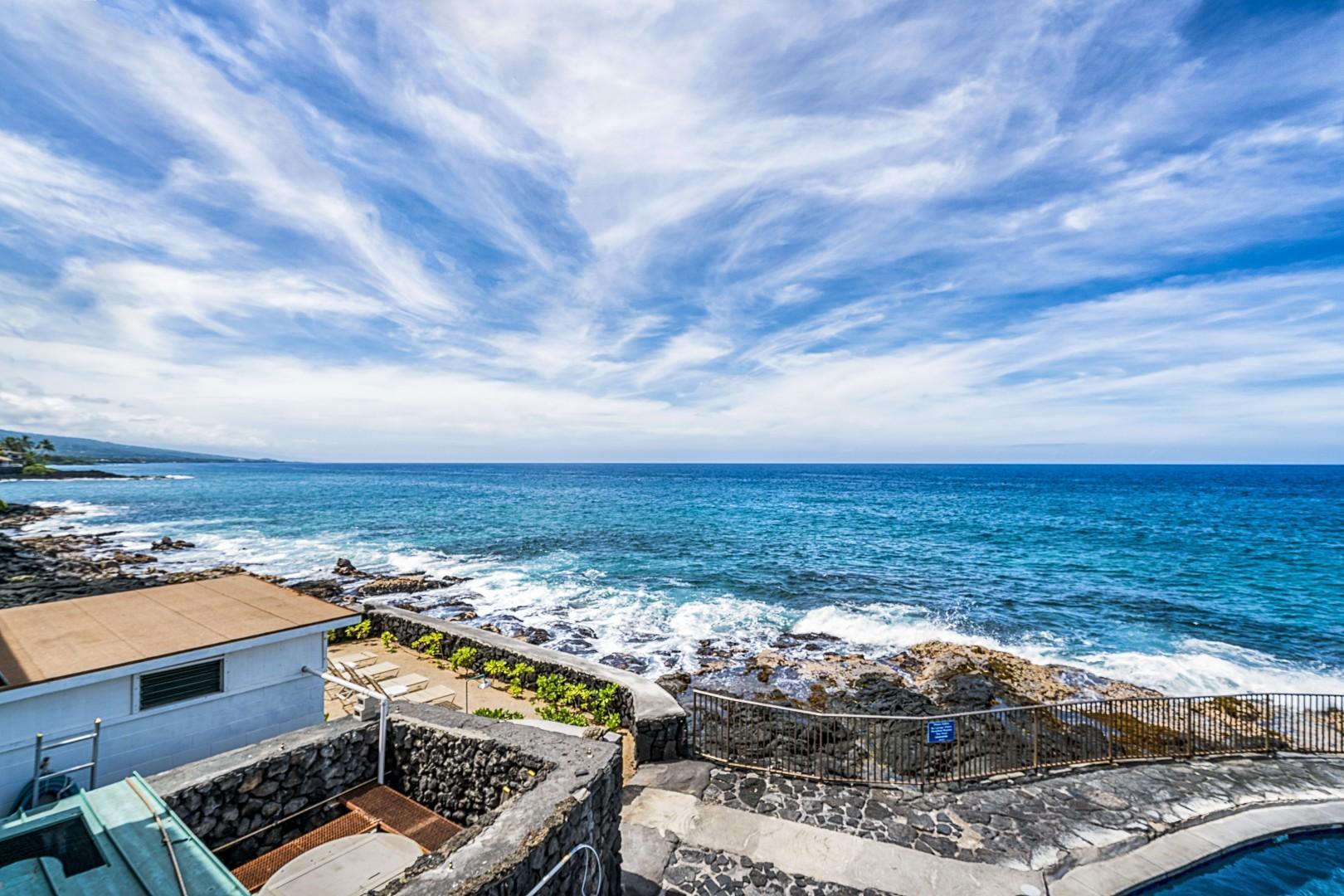 Ocean front complex features miles of coastline views!
