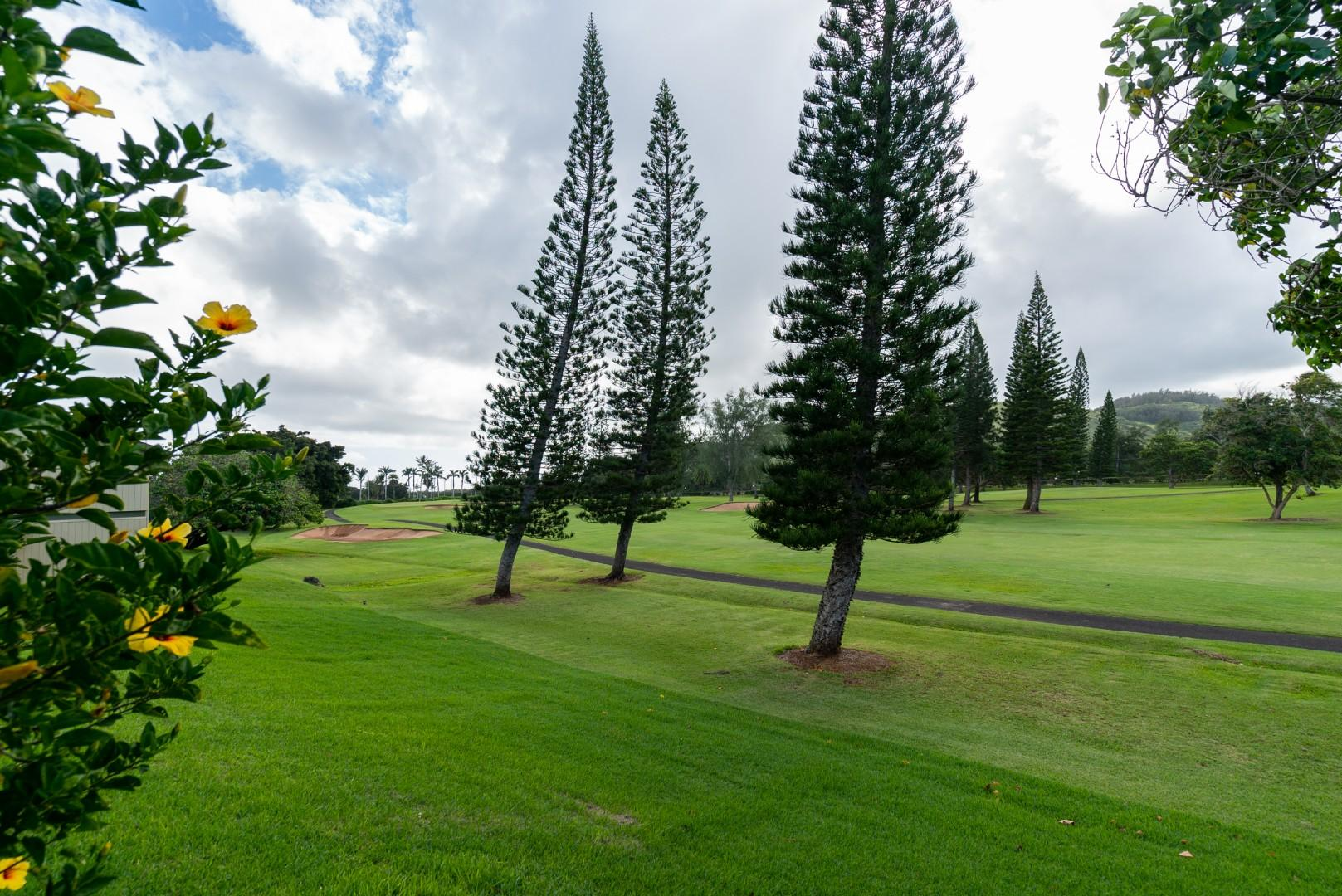 Golf course in front of property