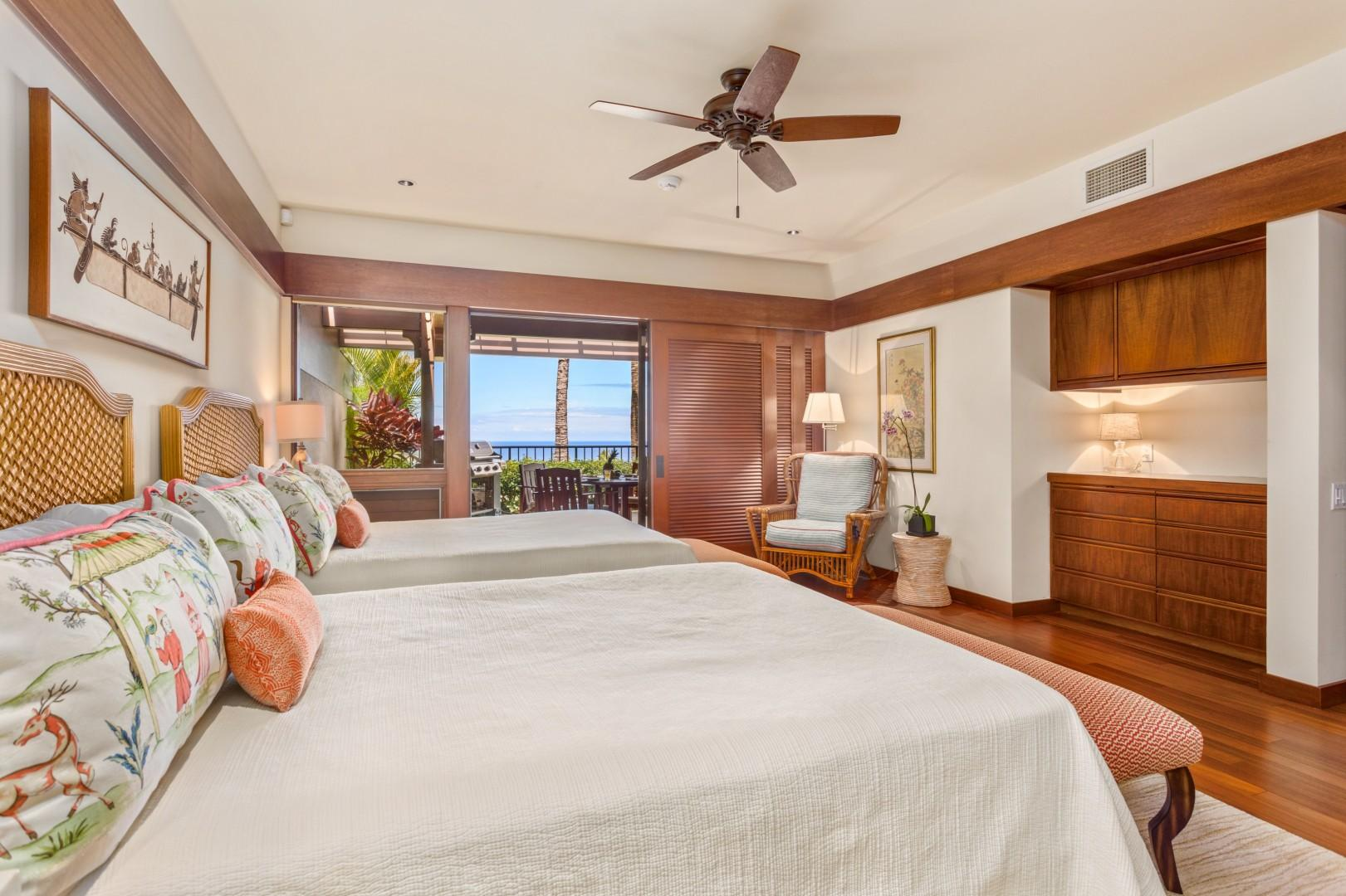 Ocean Views from Third Bedroom.