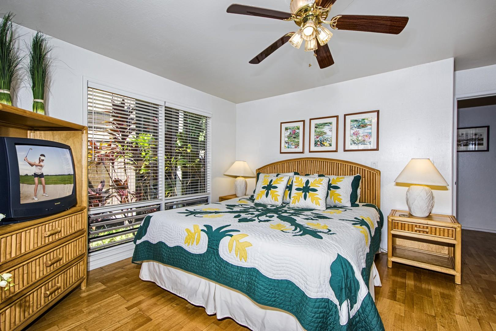 Master bedroom equipped with a King bed and central A/C!