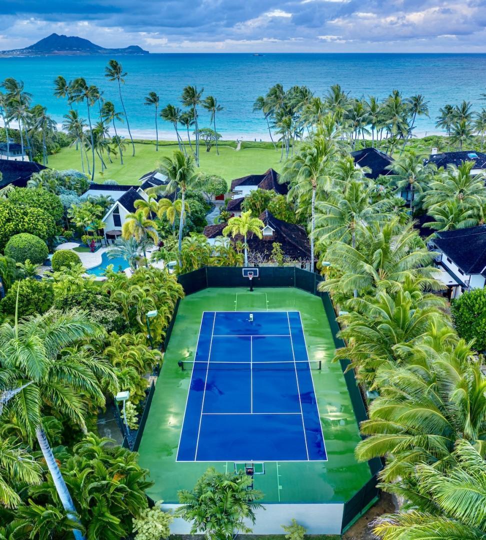 Kailua Shores Estate - USTA approved private Tennis Court