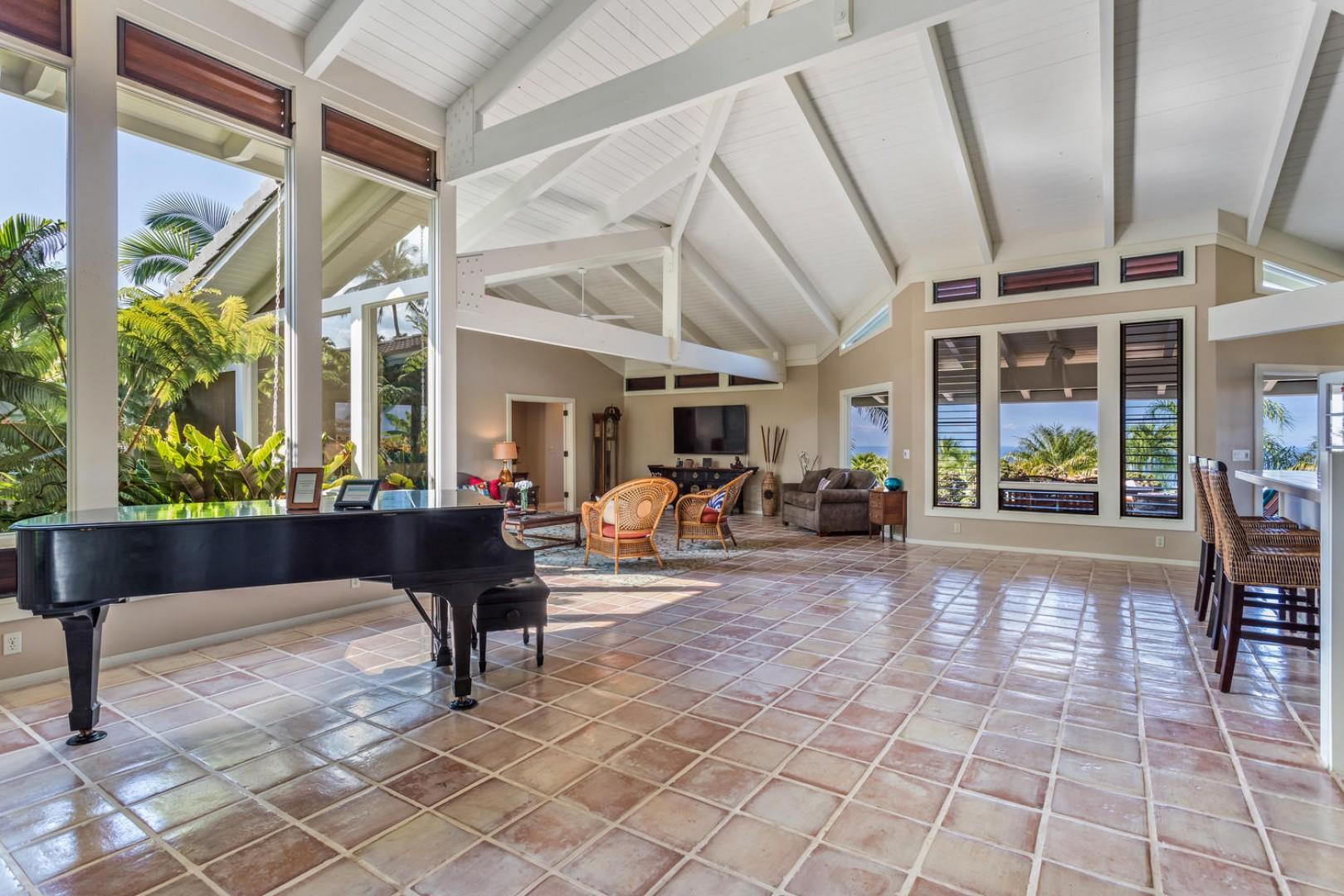 High ceilings and plenty of space for everyone.