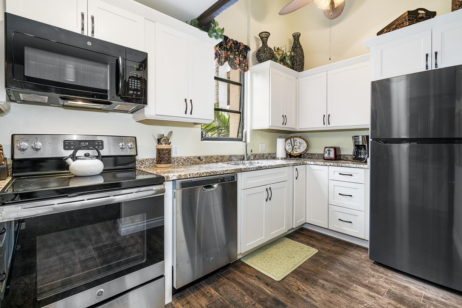 Gorgeously remodeled kitchen as of 2018!