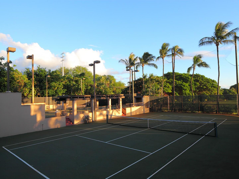 Community tennis courts.