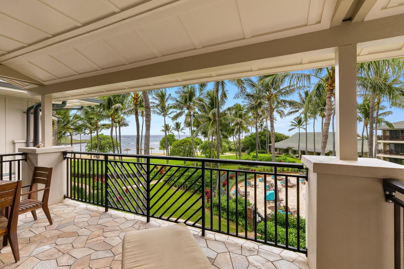 Ocean and Pool views from the lanai