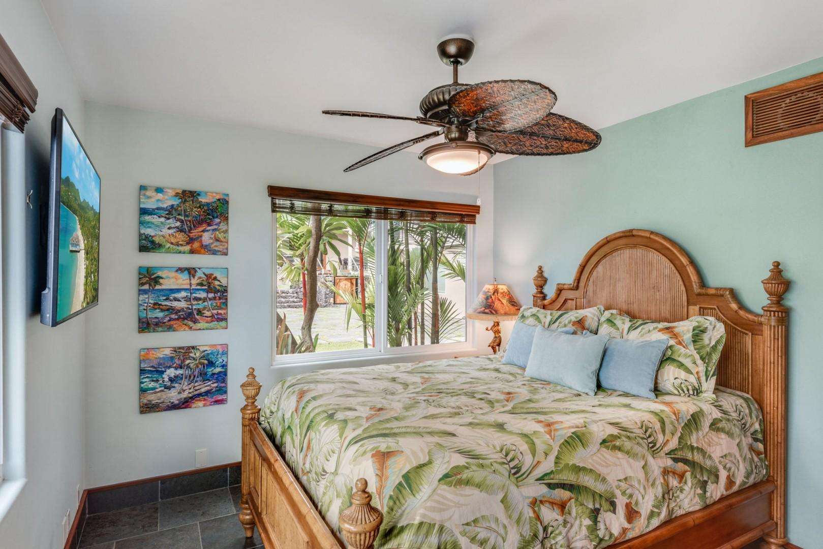 Hale Moana Master bedroom featuring a Queen bed