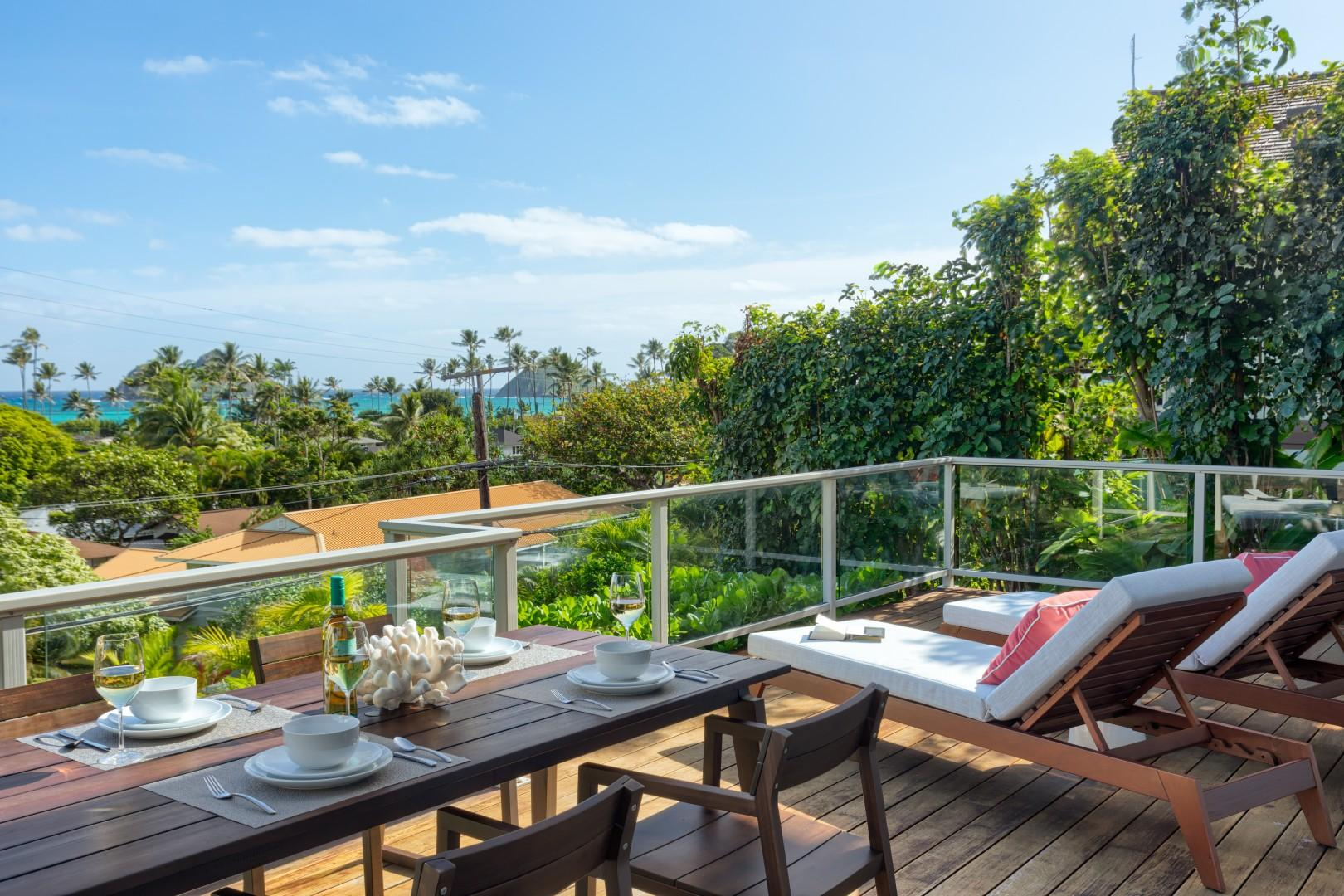 Your breakfast view from the first floor lanai.