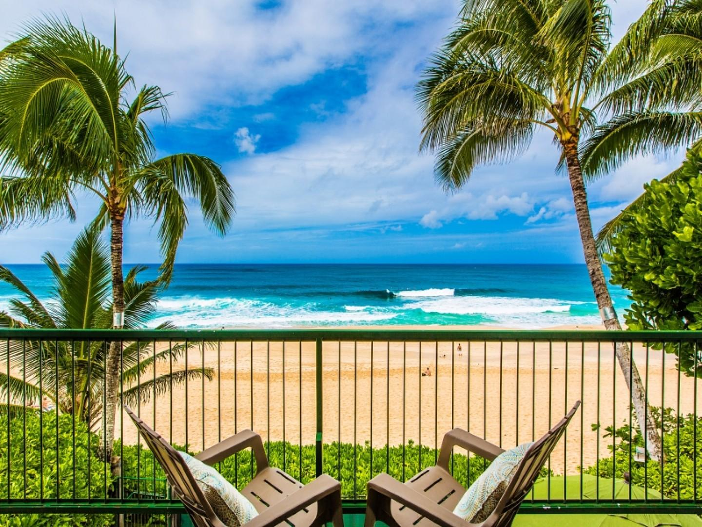 Master suite private lanai with breathtaking ocean views.