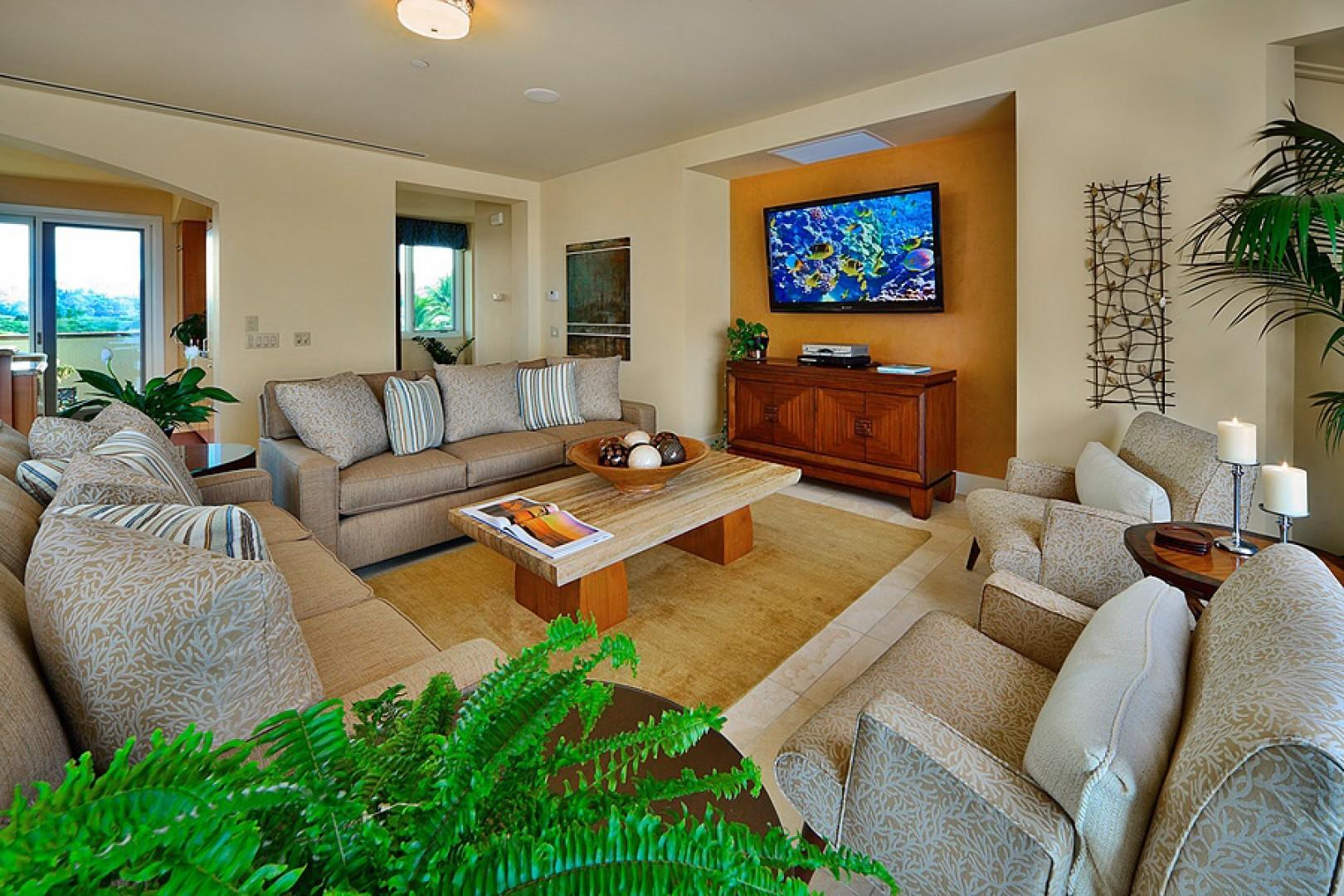 The stunning K508 great room - one of two seating/lounging areas in Sandy Surf K508 Villa
