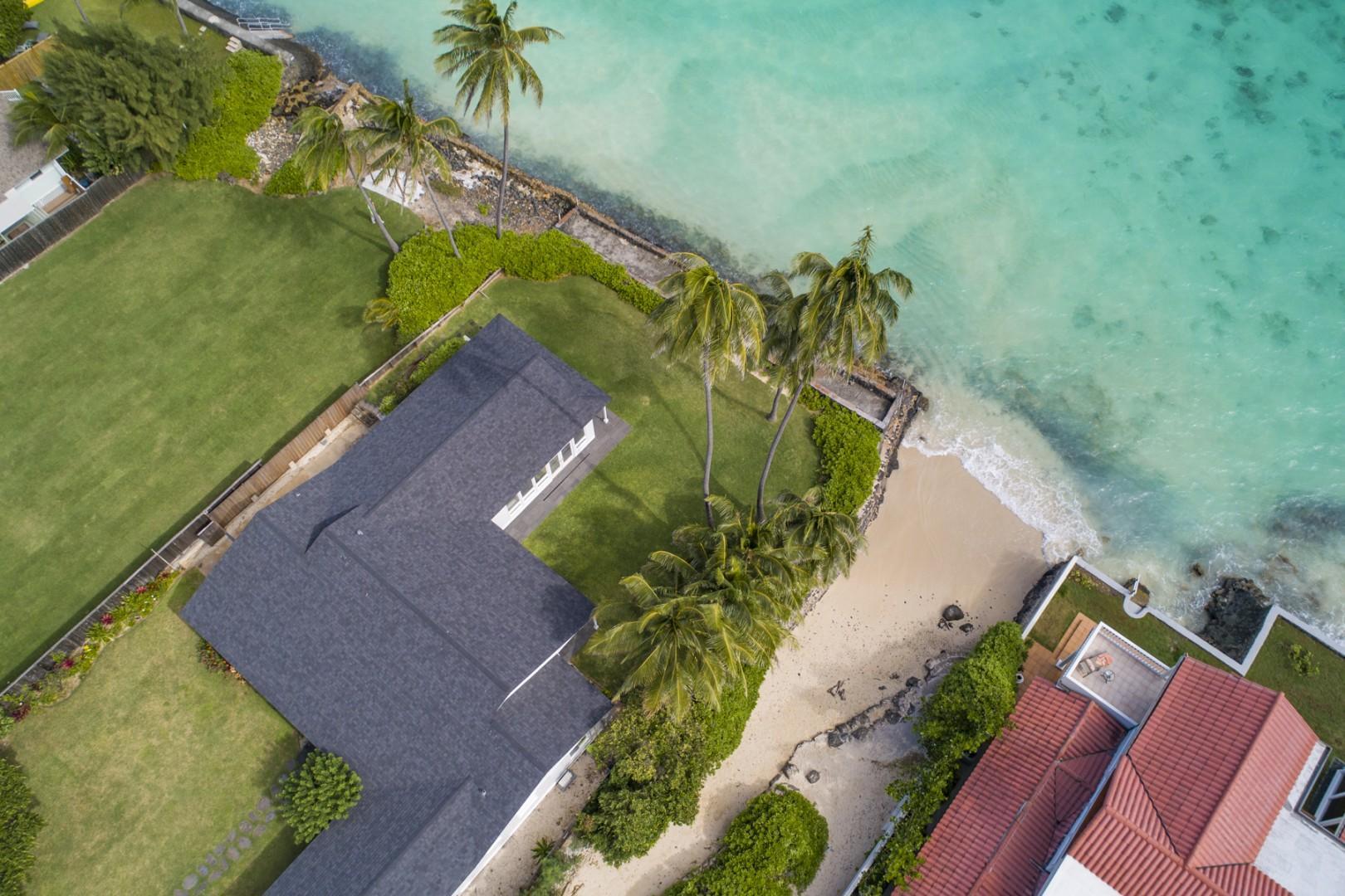 Lanikai Oceanside sits adjacent to a public beach access