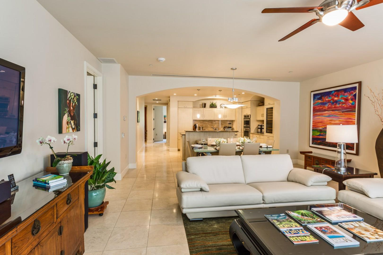Another view of the spacious open-concept great room.