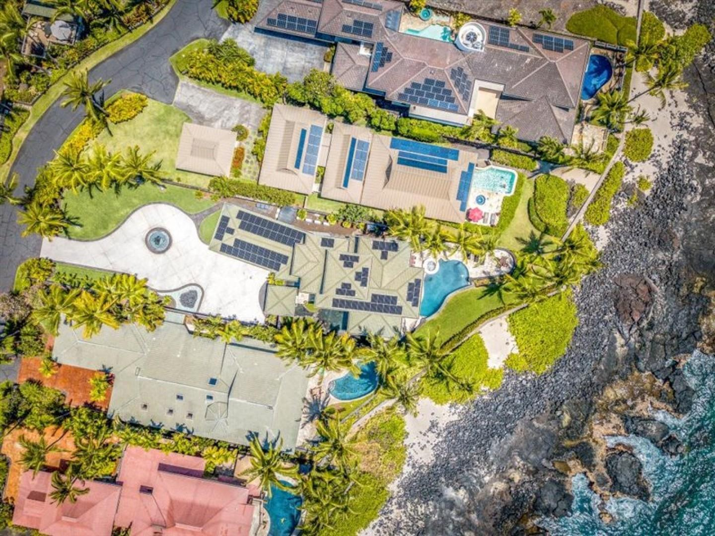 Aerial view of the sheer size of the home and expansive lot!