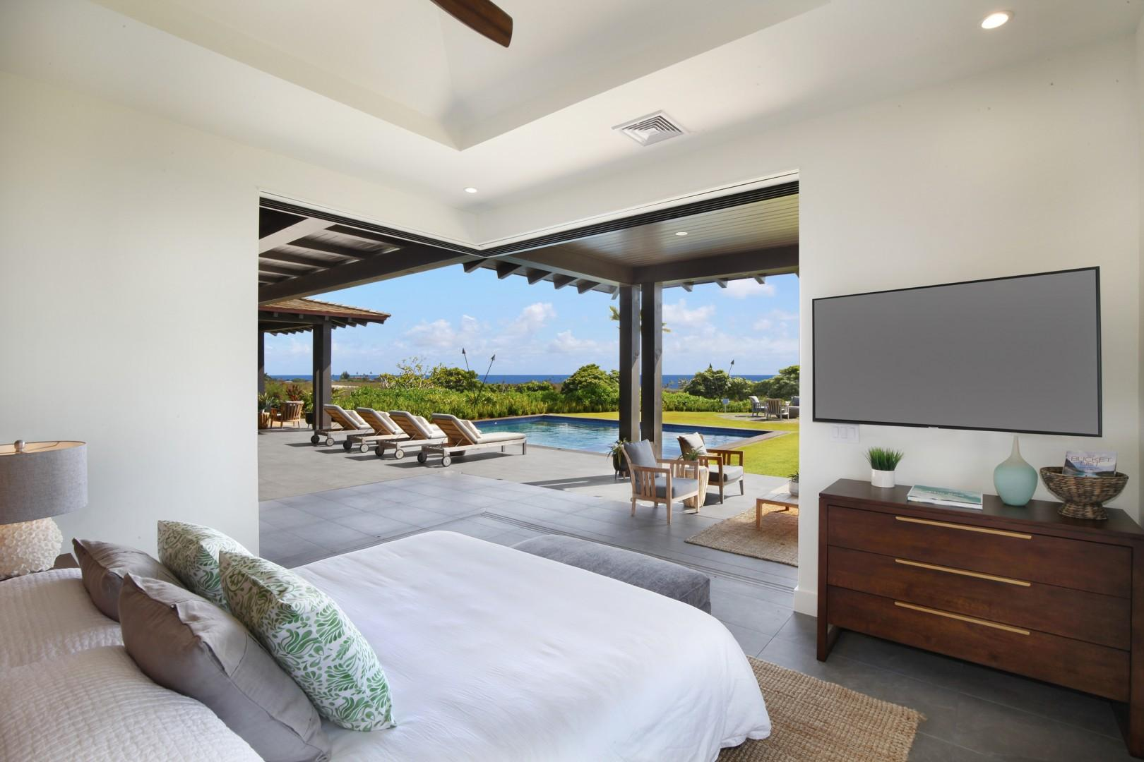 Second master with pool and ocean views