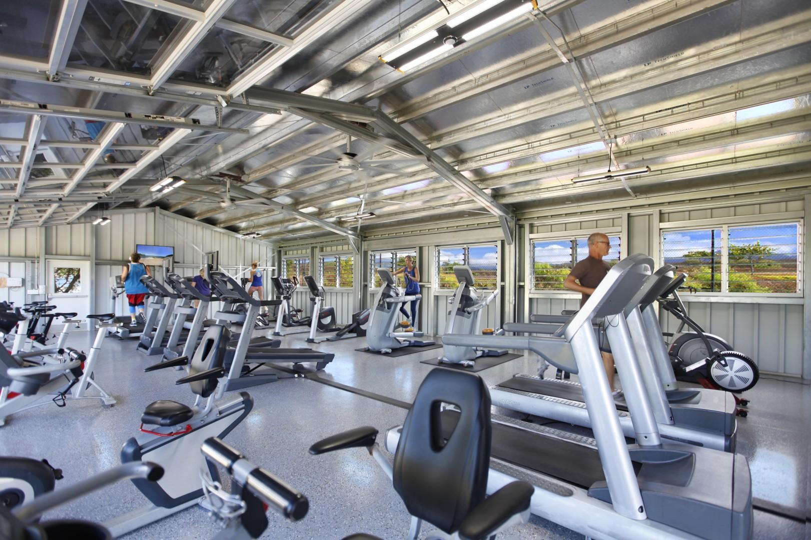The gym at Poipu Beach Athletic Club