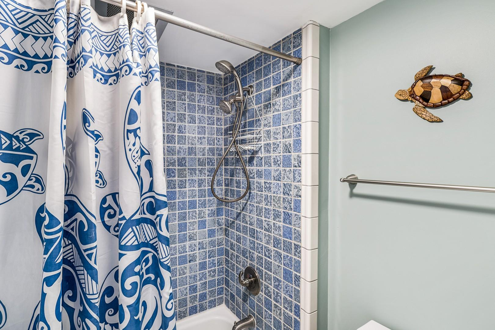 Guest bathroom tub / shower combo!