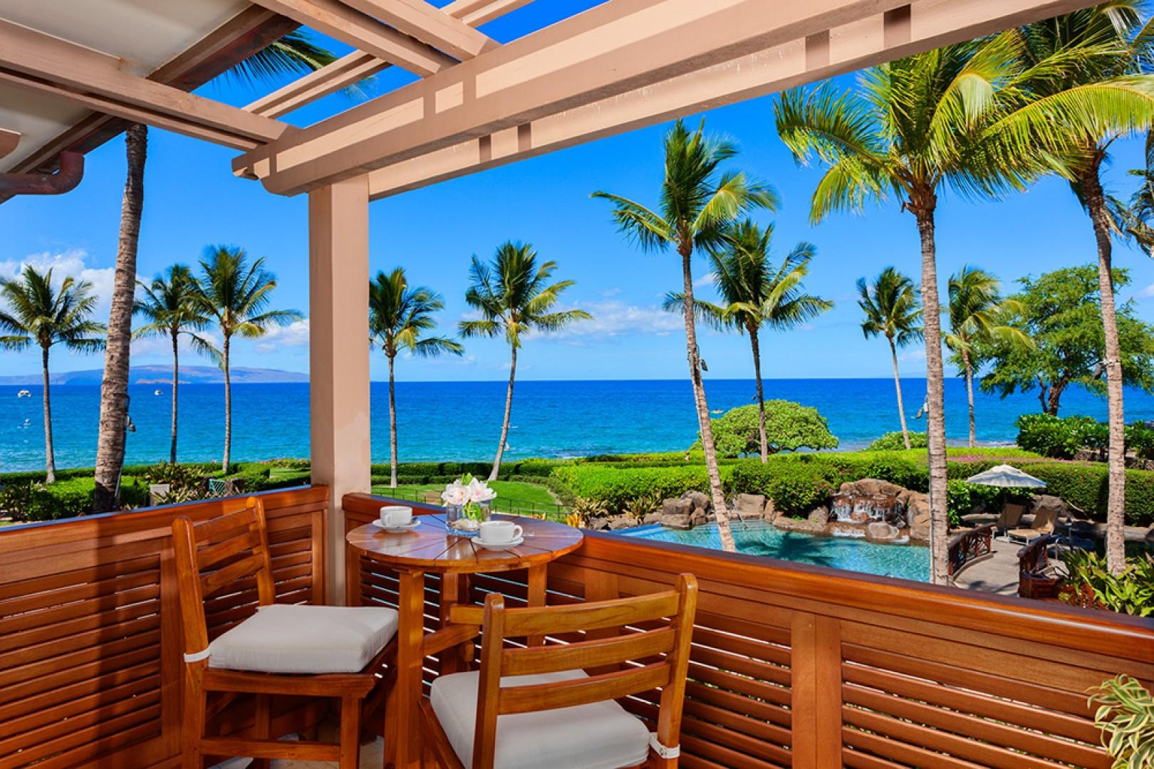 A201 Royal Ilima - Private Ocean and Pool View Lanai Off of the Master Bedroom and Bathroom