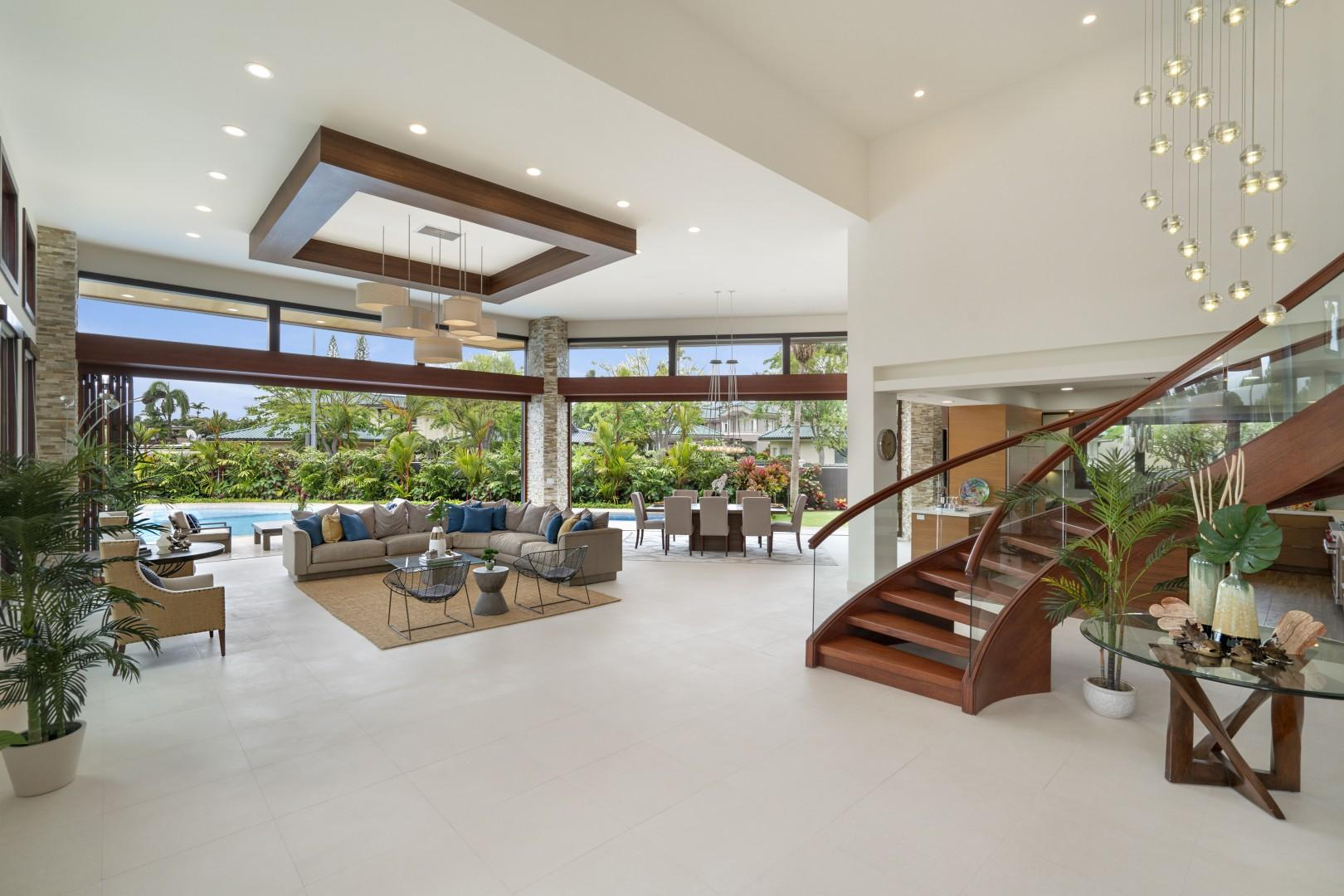 Living Staircase to Upstairs