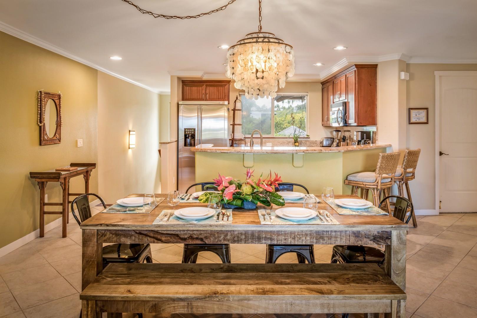 Beautiful Hardwood Dining Table