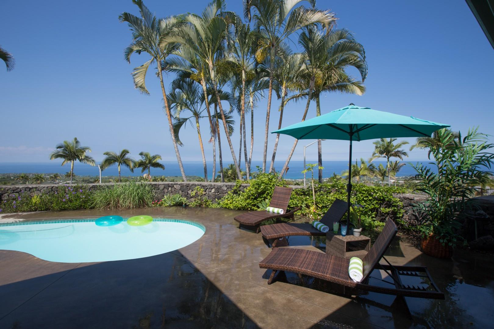 The perfect lanai to sit back and relax ....