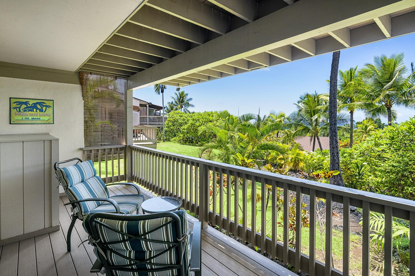 Downstairs Lanai outside the bedroom with gorgeous views!