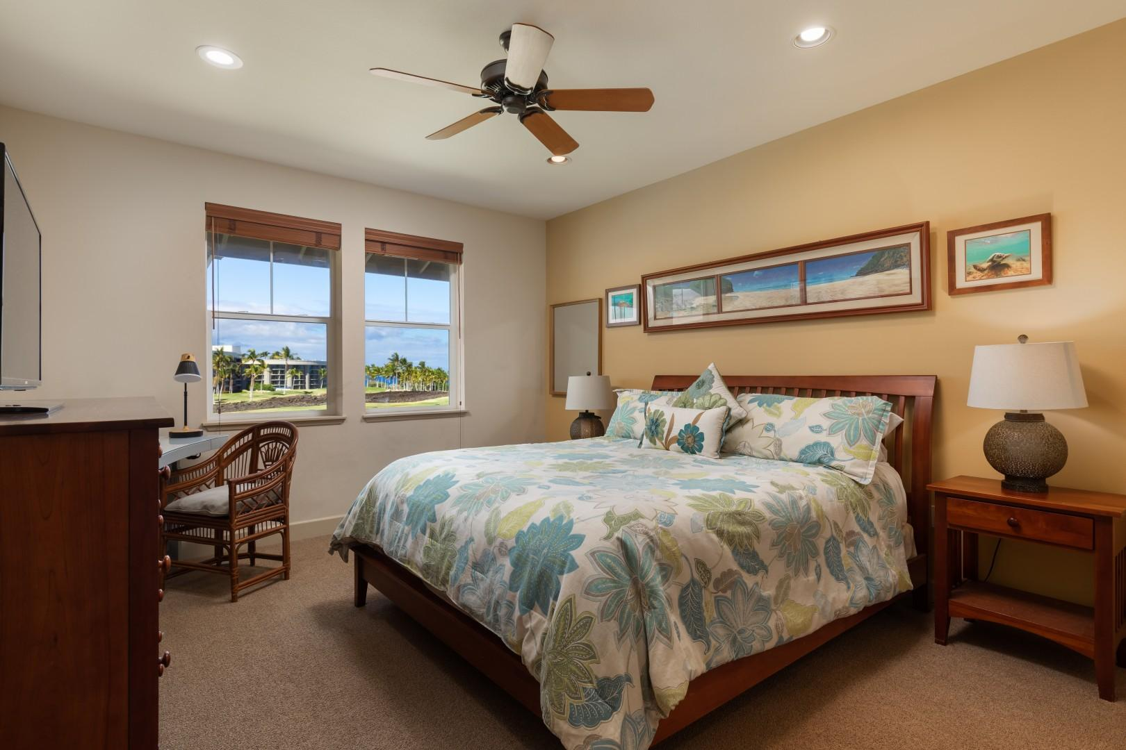 The King Master Suite is very spacious and has everything you desire.