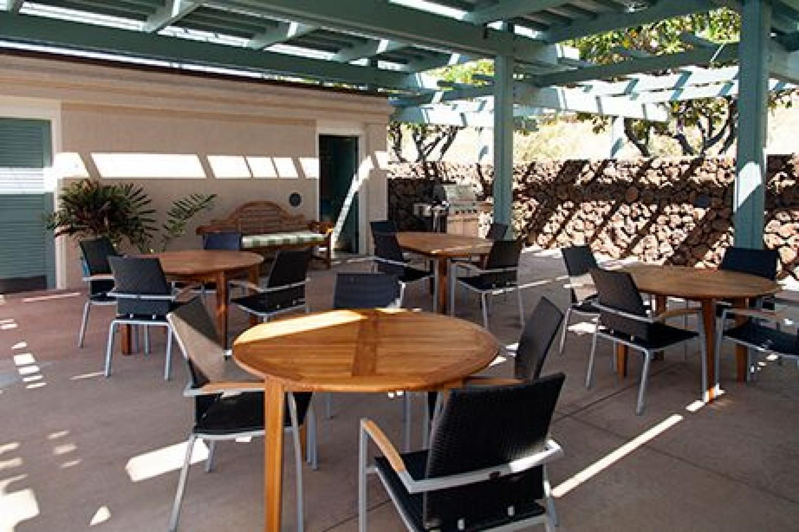 There are additional BBQ's here for your use as well as seating areas and restrooms.