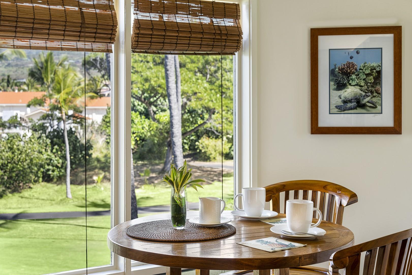 Eat in Kitchen with golf course views!