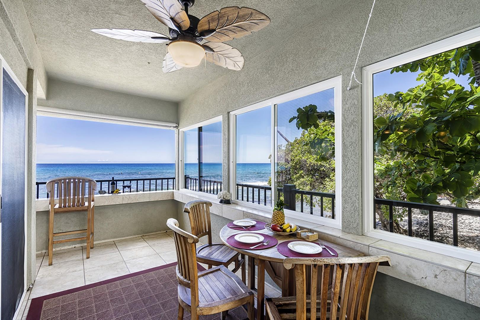 Lanai Dining area with breathtaking views!