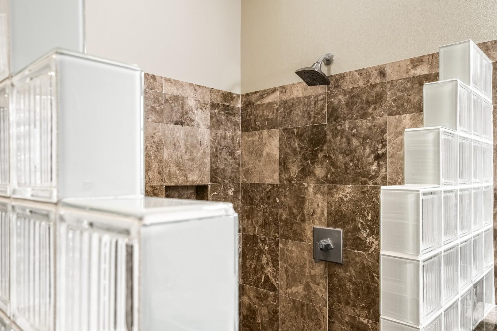 Guest bedroom walk in shower